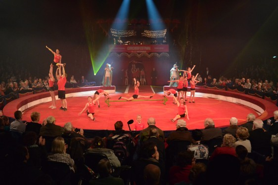 Choreografie voorprogramma Internationaal Circusfestival Enschede